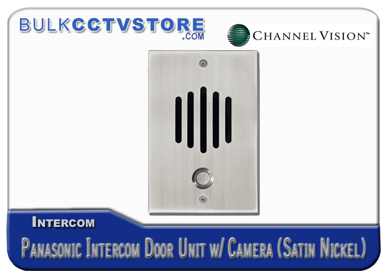 Channel Vision DP-6302P - Panasonic Door Plate With Color Camera - Satin Nickel Finish - Bulk CCTV Store