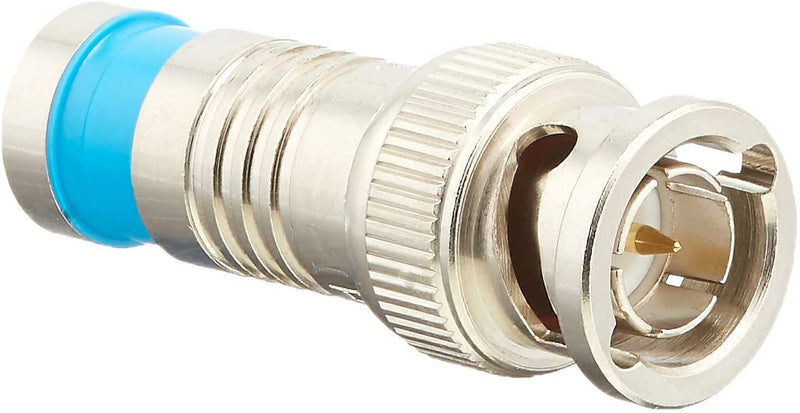 Platinum Tools 18035 BNC RG6Q Compression, Nickel Plated, 25-Pack - Bulk CCTV Store