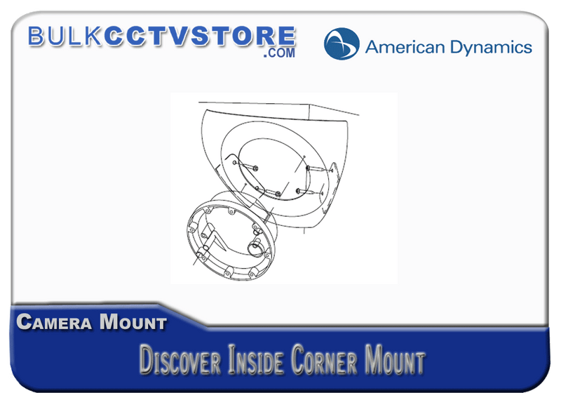 American Dynamics ADCPWMCRNR - Discover Indoor Mount - Inside Corner - White - Bulk CCTV Store