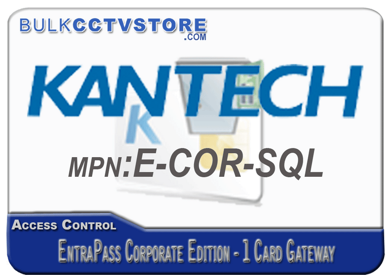 Kantech E-COR-SQL EntraPass Corporate Edition - 1 Card Gateway - Bulk CCTV Store