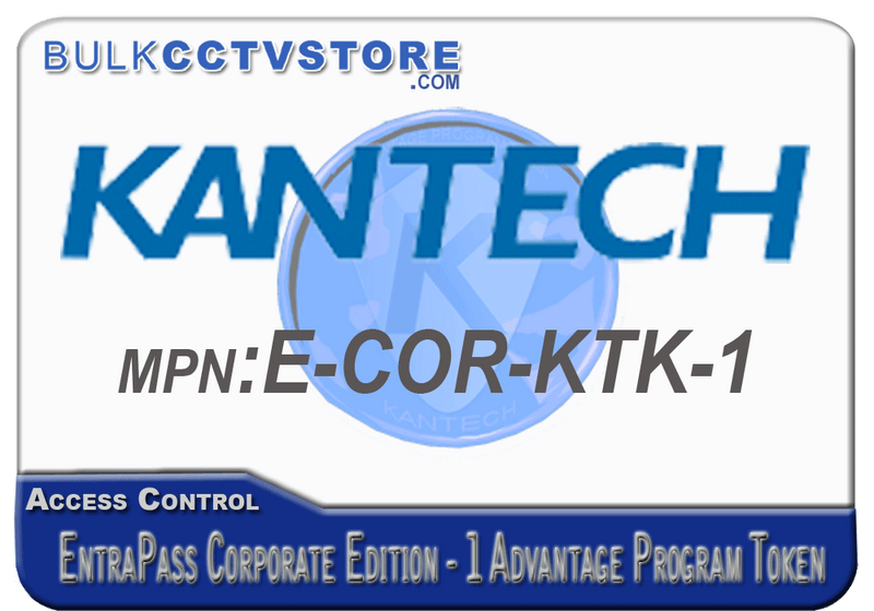 Kantech E-COR-KTK-1 Kantech Advantage Program Token - EntraPass Corporate Edition - Bulk CCTV Store