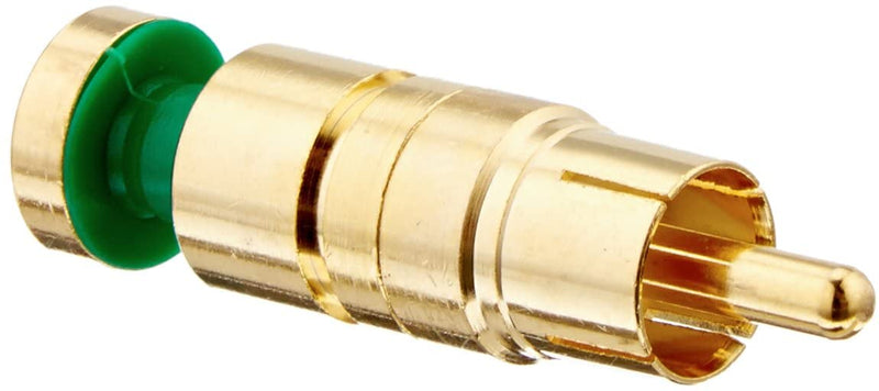 Platinum Tools 18265 RCA RGB Compression Connector 24 AWG, Gold Plate 25pc Bag - Bulk CCTV Store