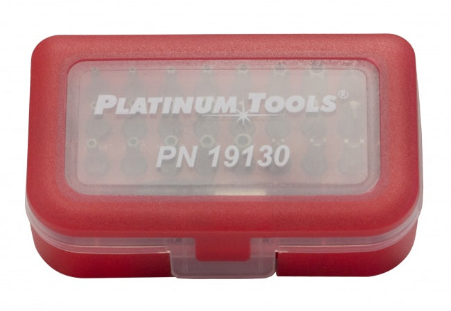 Platinum Tools 19130C 30 Piece Security Bit Set - Bulk CCTV Store