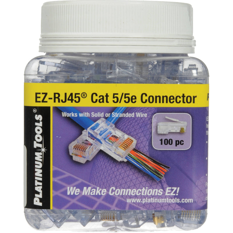 Platinum Tools 202003J EZ-RJ45 CAT5/5e Connectors 100pc Jar - Bulk CCTV Store