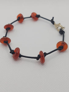 Recycled Glass (Red) From Ghana Stacking Bracelet