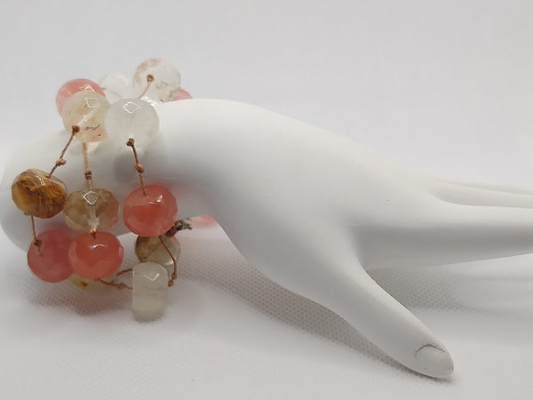 Handknotted Watermelon Quartz Bracelet