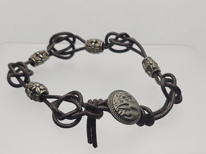 Men's 3 mm Celtic Knot Leather Bracelet
