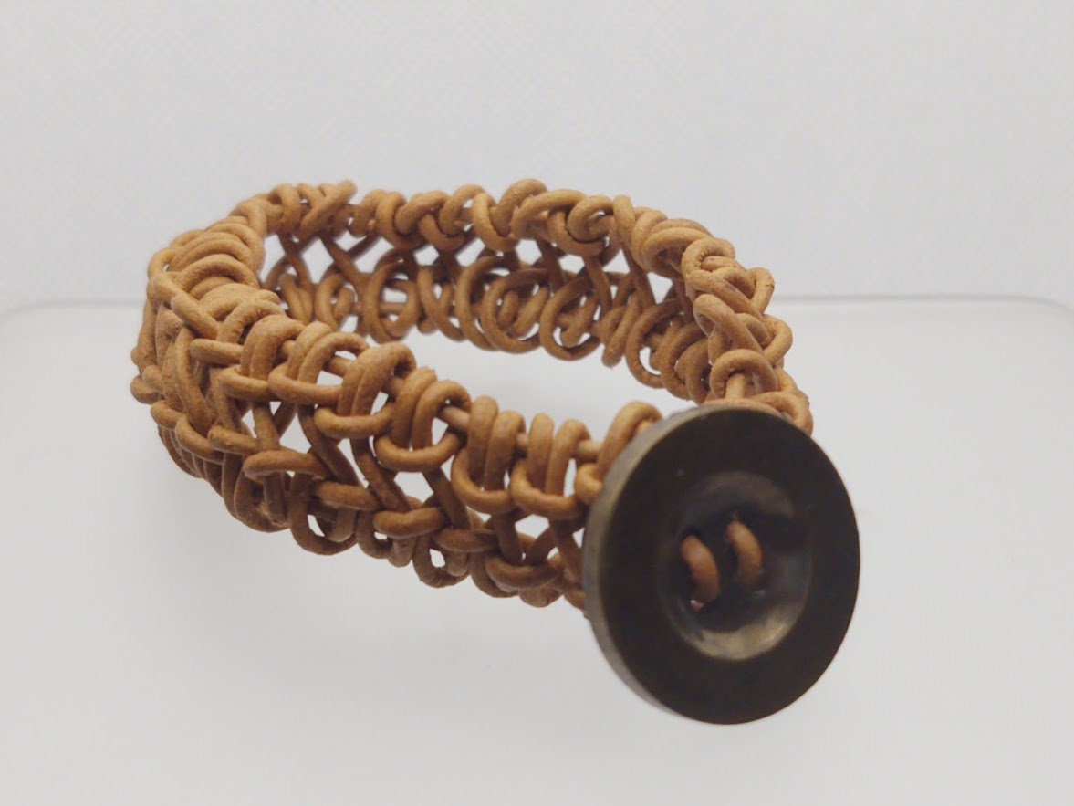 Unisex Natural Leather Woven/Knotted Bracelet