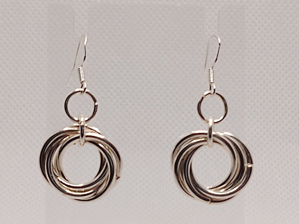 Silver Mobius Earrings