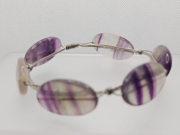 Wire Bangle in Fluorite