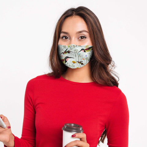 AOP+ Apparel Beautiful Hummingbirds washable face mask