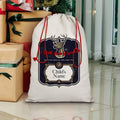 alloverprint.it Homeware North Pole Express Christmas Sack Sublimation Linen Drawstring Sack
