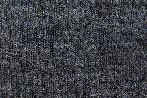 Close up alpaca sock