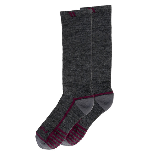 Performance Alpaca Socks - Grey//Purple