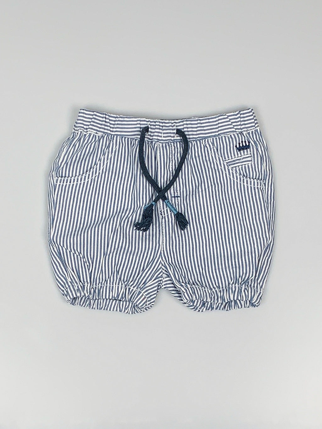 Stribede shorts m. snøre