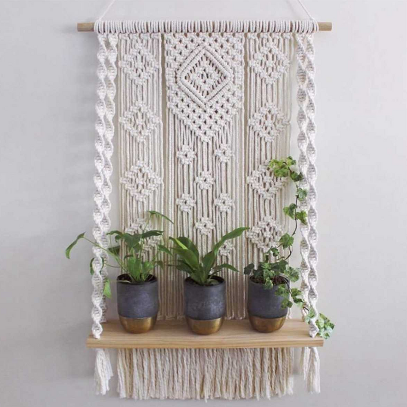 Elena Macrame Shelf