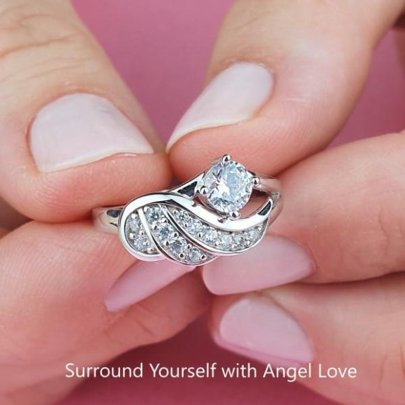 Angel's Embrace Sterling Silver Ring