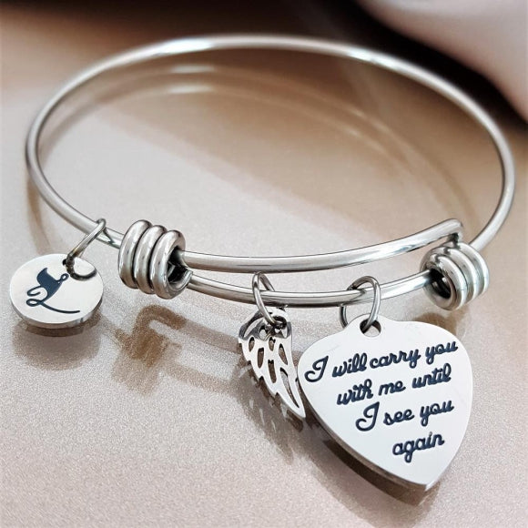 "<img src=""Carry_You_With_Me_Wing_Bracelet_1.jpg"" alt=""Angel Jewelry - Carry You With Me Angel Wing Bracelet - 1"">"