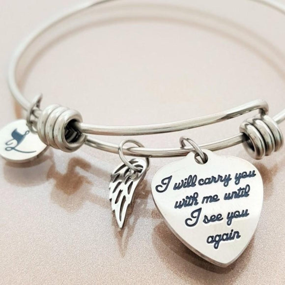 "<img src=""Carry_You_With_Me_Wing_Bracelet_4.jpg"" alt=""Angel Jewelry - Carry You With Me Angel Wing Bracelet - 4"">"