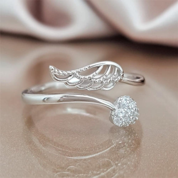 "<img src=""Forever_By_My_Side_Angel_Ring_Sterling_Silver_8.jpg"" alt=""Angel Jewelry - Forever by My Side Sterling Silver Angel Ring - 8"">"