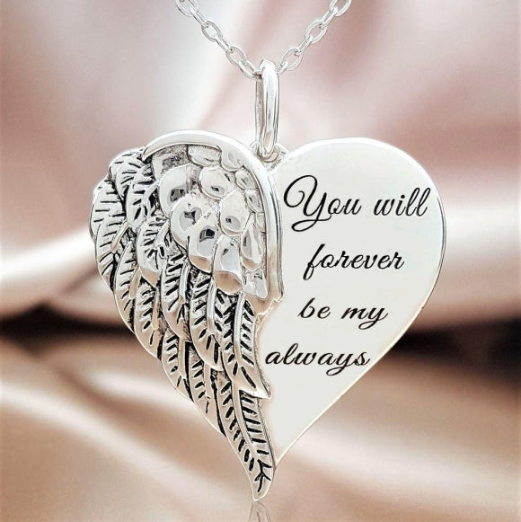 Forever Loved Angel Heart Sterling Silver Pendant