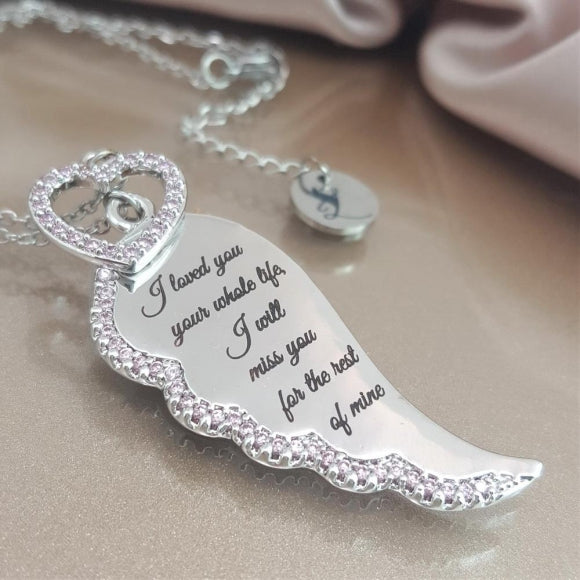 "<img src=""I_Miss_You_Forever_Angel_Wing_Necklace_1.jpg"" alt=""Angel Jewelry - I'll Miss You Forever Angel Wing Necklace - 1"">"