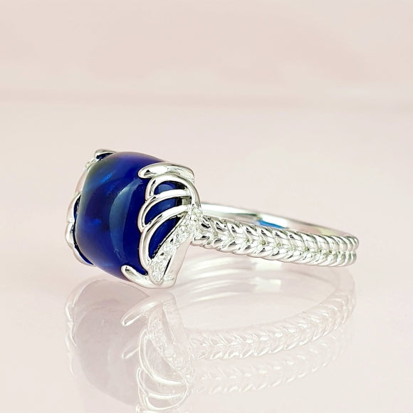 I See You In Every Star Sterling Silver Angel Wings Ring
