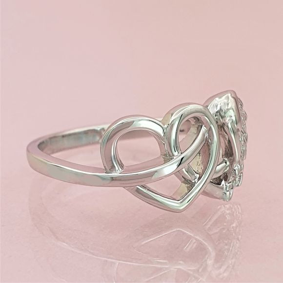 In My Heart, In My Thoughts, In My Life Sterling Silver Ring