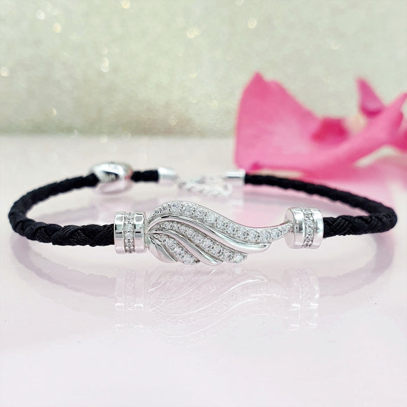 Let Love Light Your Way Sterling Silver Friendship Bracelet