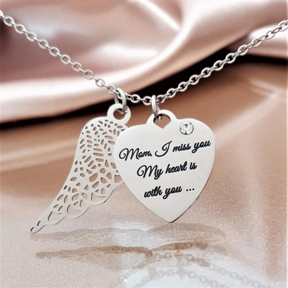 "<img src=""Miss_You_Mom_Angel_Wing_Necklace_3.jpg"" alt=""Angel Jewelry - Miss You Mom Angel Wing Necklace - 3"">"