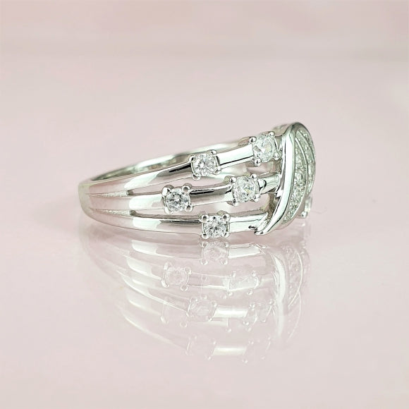 My Dreams Will Come True Sterling Silver Angel Wing Ring