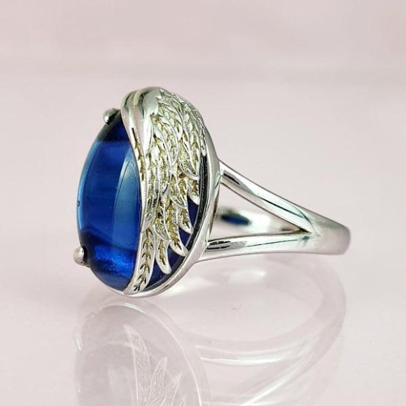 "<img src=""Never_More_Than_a_Thought_Away_Angel_Wing_Ring_5.jpg"" alt=""Angel Jewelry - Never More Than a Thought Away Sterling Silver Angel Wing Ring - 5"">"