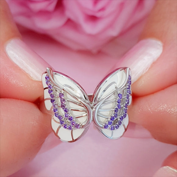 "<img src=""On_The_Wings_Of_Butterflies_Ring_-_Silver_3.jpg"" alt=""Angel Jewelry - On The Wings Of Butterflies Sterling Silver Angel Ring - 3"">"