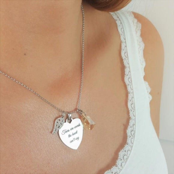 Sacredness In Tears Angel Necklace