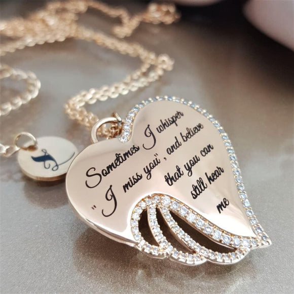 Tender Whispers Angel Wing Necklace