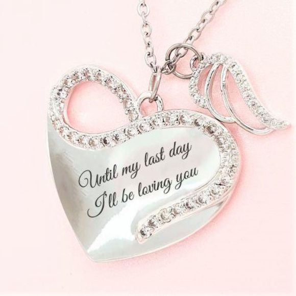 "<img src=""Til_My_Last_Day_Angel_Wing_Necklace_1.jpg"" alt=""Angel Jewelry - Til My Last Day Angel Wing Necklace"">"