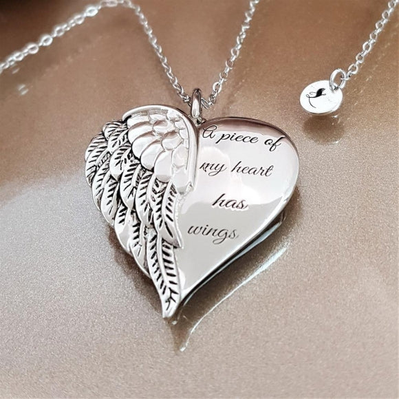 "<img src=""Whisper_In_My_Heart_Angel_Necklace_3.jpg"" alt=""Angel Jewelry - Whisper In My Heart Sterling Silver Angel Wing Necklace - 3"">"