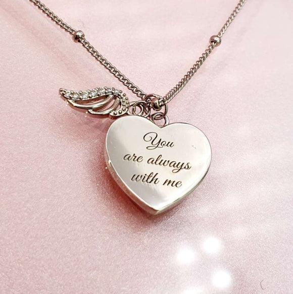 Always With Me Angel Wing Sterling Silver Necklace