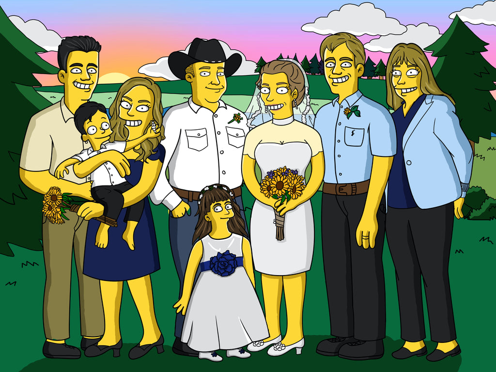 Turn Yellow - Hand Drawn Simpsons Portrait