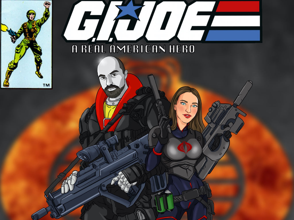 G.I. Joe Style Hand Drawn Portrait