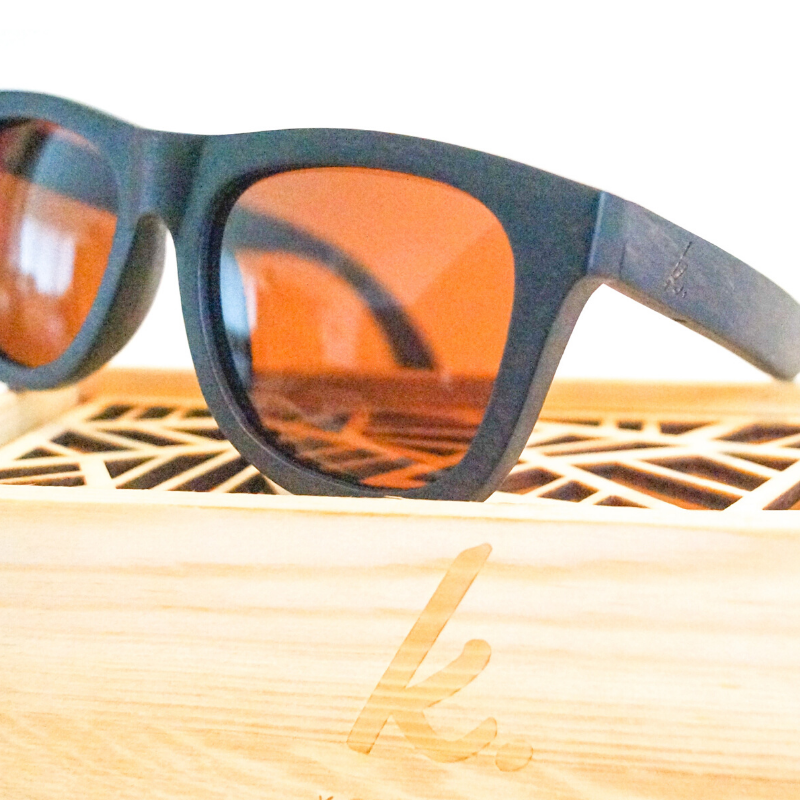 787 Wooden Sunglasses by K-OBA Eyewear
