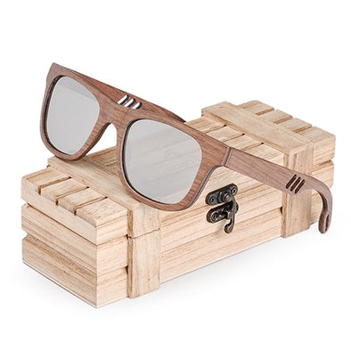 413 Wooden Sunglasses Silver lens  / K-OBA Eye-Wear