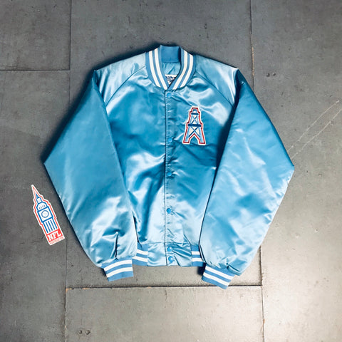 Houston Oilers: Chalk Line Reverse Spellout Jacket (XL)