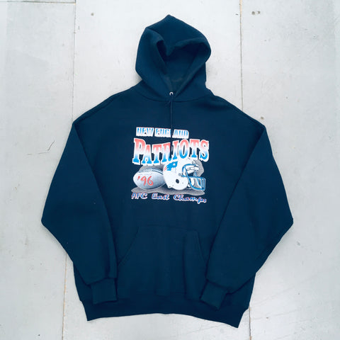 New England Patriots: 1996 AFC Champs Spellout Hoodie (XL)