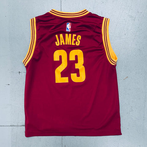 Cleveland Cavaliers: LeBron James 2010/11 Red Adidas Jersey (XS)