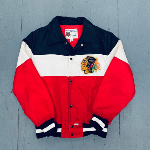 Chicago Blackhawks: 1990s Shain Bomber Jacket (M)