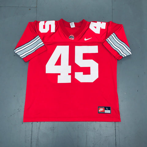 THE Ohio State Buckeyes: No. 45 Archie Griffin (1975) Nike Jersey (L)