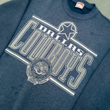 Dallas Cowboys: 1990's Nutmeg Mills NFL Member Club Graphic Spellout Sweat (M)
