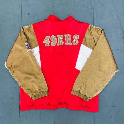 San Francisco 49ers: 1990's Apex One Satin Fullzip Jacket (XL)