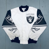 Oakland Raiders: 1990's Chalk Line Fanimation Jacket (L)